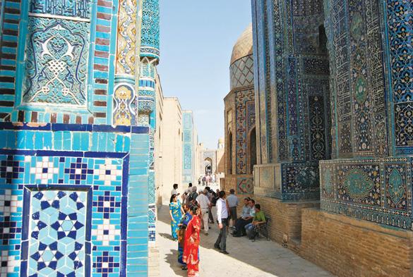 Uzbekistan Những bức tường được khảm cầu kỳ
