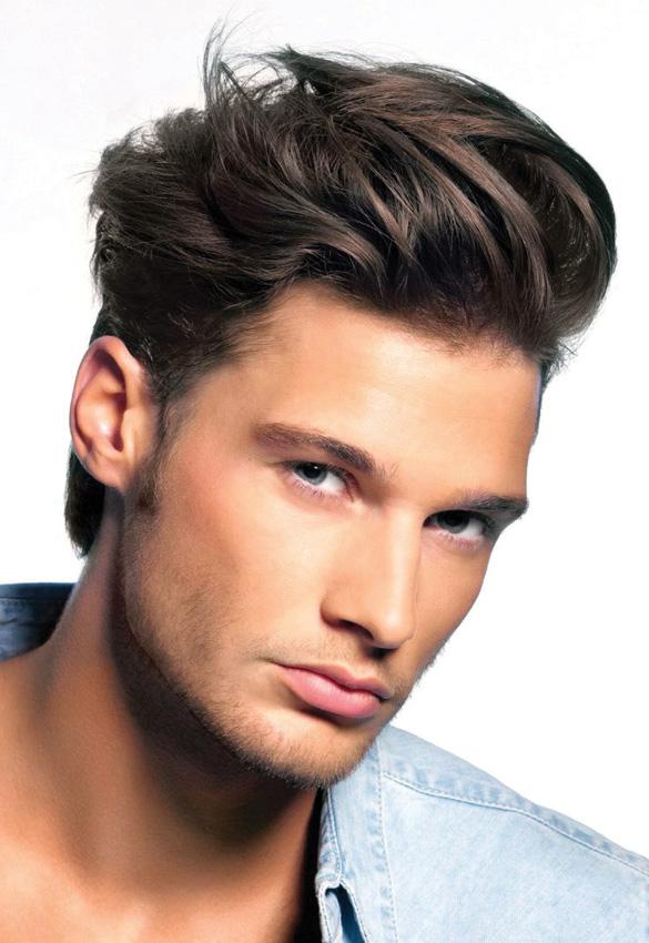 Với mái tóc dày, quý ông dễ dàng tạo nhiều kiểu tóc đẹp và lịch lãm