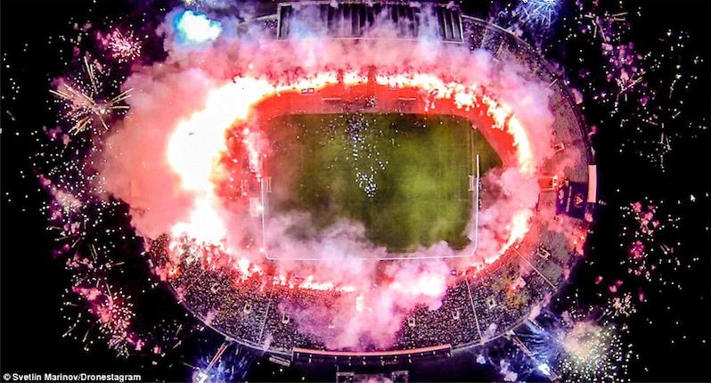 6. Sân vận động quốc gia Sofia (Bulgary) bừng sáng