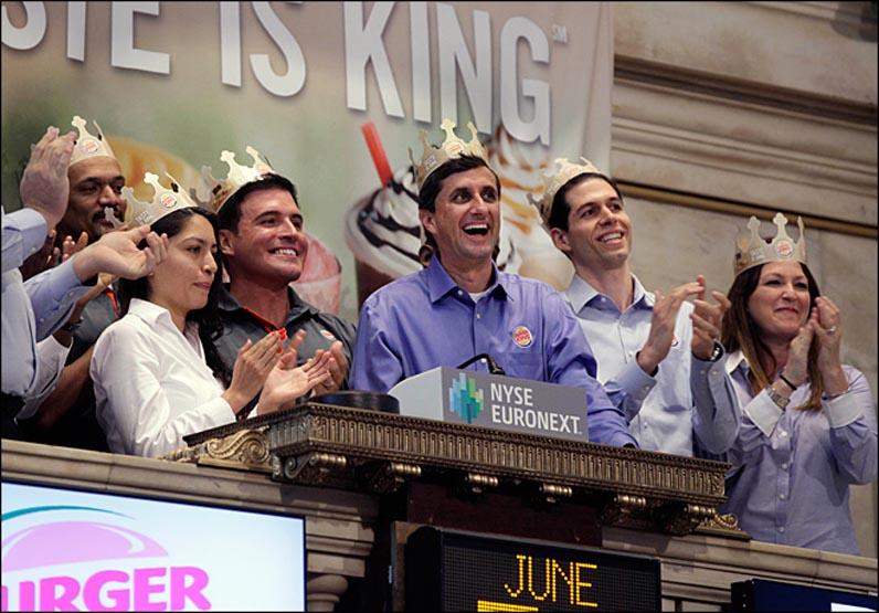 Wall Street Burger King Stock
