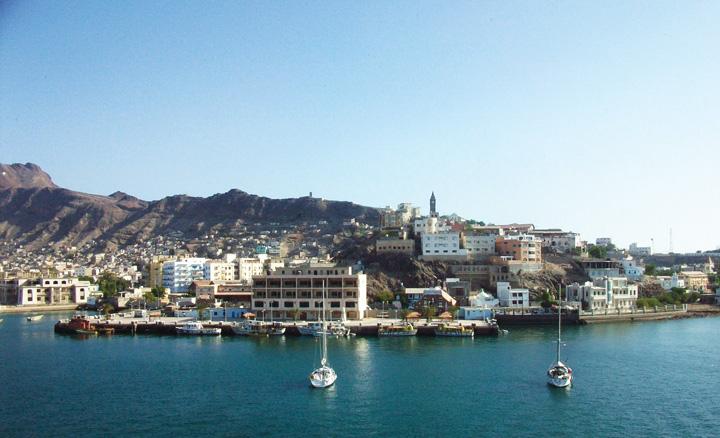 Thành phố cảng Aden được xây dựng xung quanh miệng núi lửa