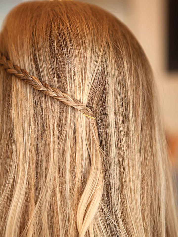 Ứng dụng kẹp tăm để giữ bím tóc