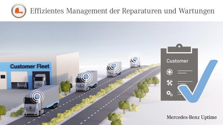 Mercedes-Benz Uptime: Effizientes Management der Reparaturen und Wartungen