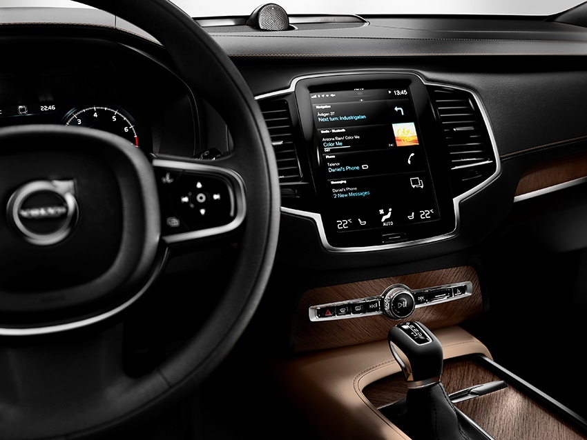 The First Edition of the all-new Volvo XC90 has an interior featuring nappa leather seats in Amber, a Charcoal leather dashboard and Linear Walnut inlays. It also features a premium audio system from Bowers & Wilkins. The limited First Edition of the all-new Volvo XC90 includes 1,927 individually numbered cars, a unique key fob, uniquely numbered tread plates and a distinctive badge on the tailgate.