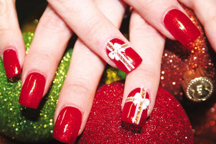 Móng tay đẹp đón Giáng sinh 11