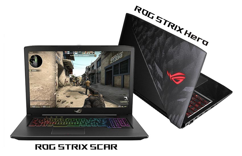Bo doi laptop gaming ROG Strix Hero va SCAR cho game thu esports