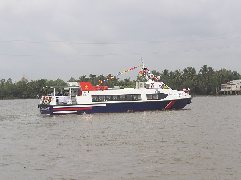 Khởi động tuyến tàu thuỷ cao tốc vận tải hành khách giữa TP Hồ Chí Minh - Cần Giờ - Vũng Tàu – Bến Tre