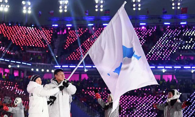 Lễ khai mạc Olympic mùa đông Pyeongchang rực rỡ và hiện đại.