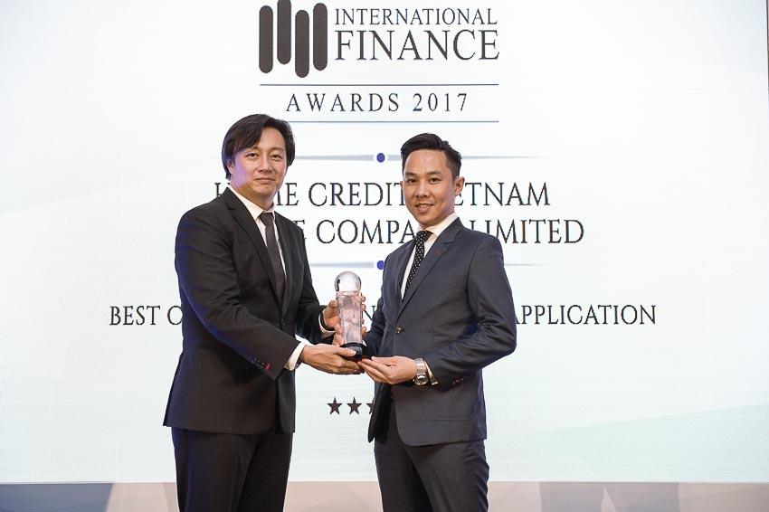 Home Credit đoạt giải Ứng dụng tài chính tiêu dùng tốt nhất năm 2017
