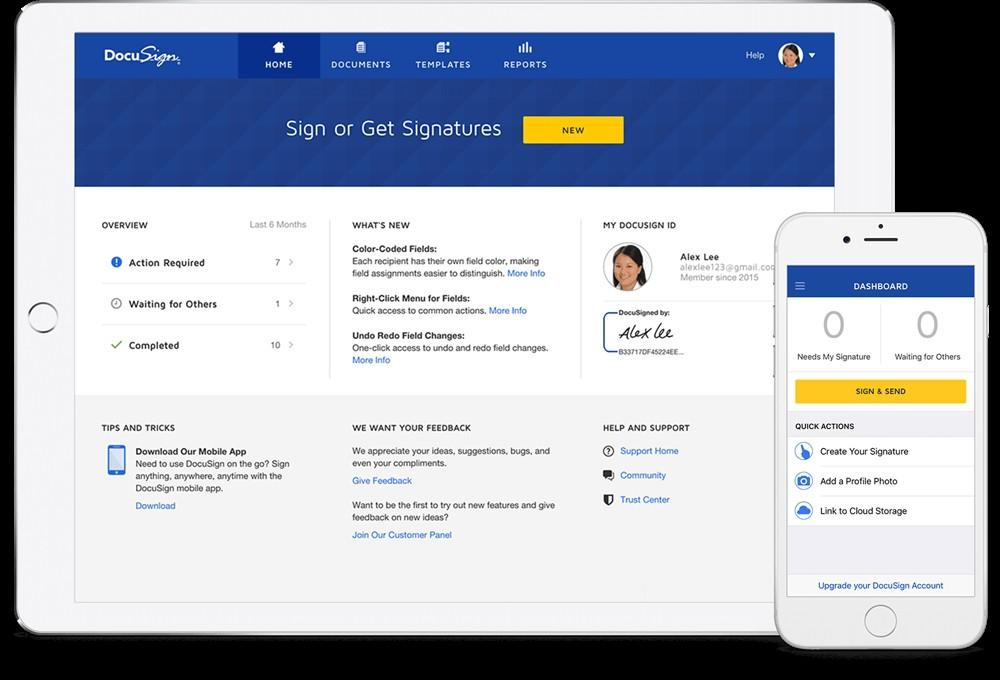 Docusign cho phép các công ty chấp nhận định dạng chữ ký điện tử.