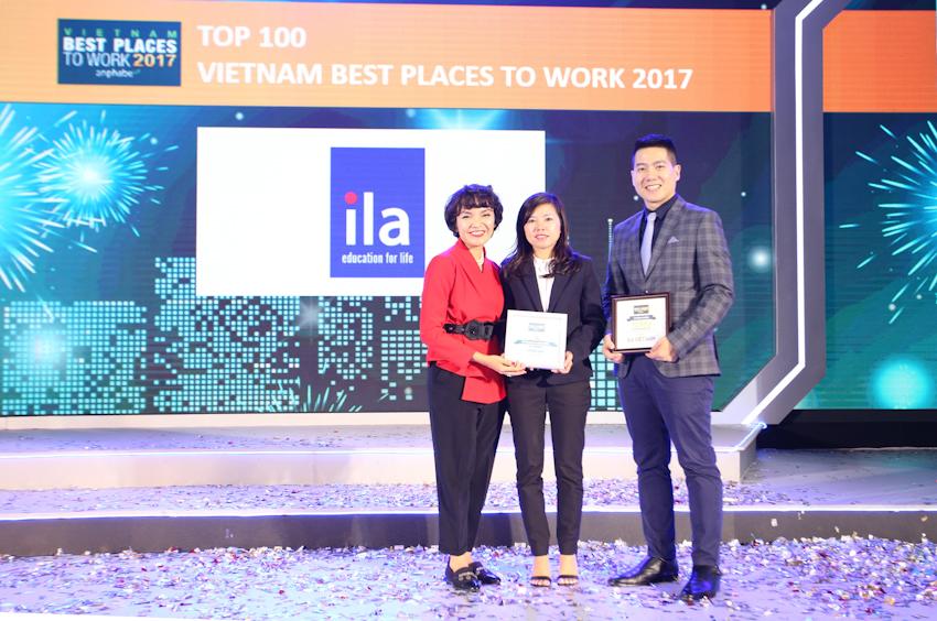 ILA được vinh danh trong Top 100 nơi làm việc tốt nhất VN