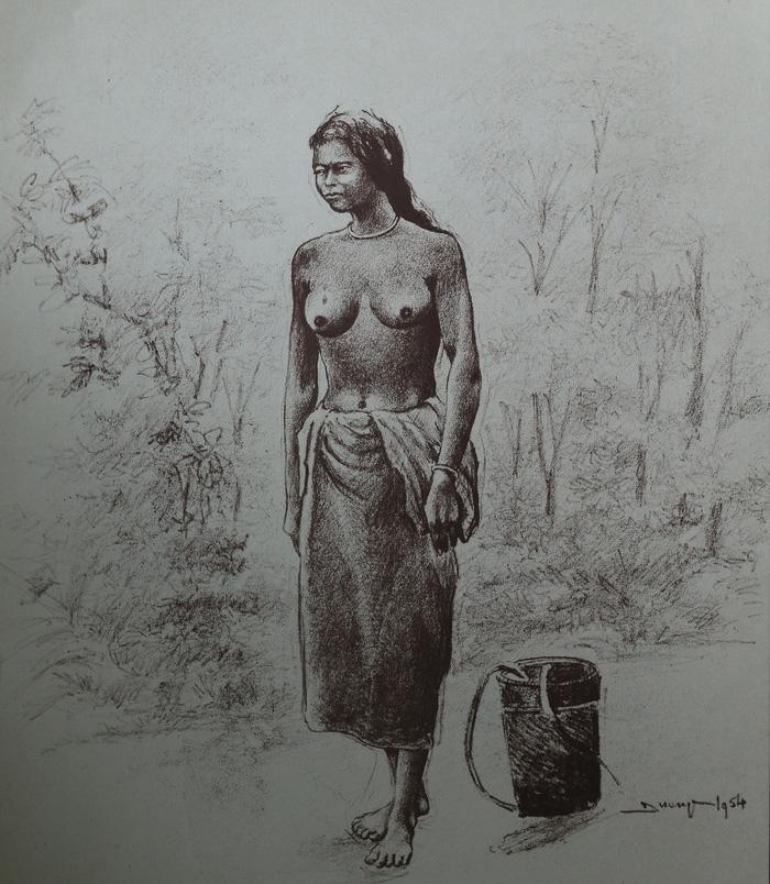 Một tác phẩm trong bộ sưu tập tranh Bộ lạc tự do thiểu-số của xứ sở