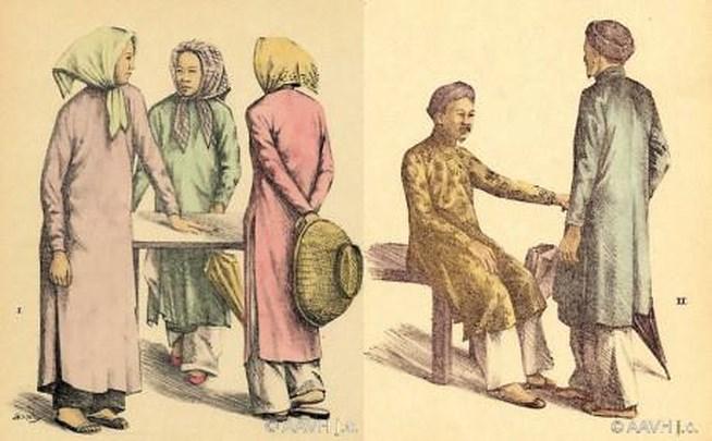 Trang phục của phụ nữ và đàn ông Nam Kỳ.
