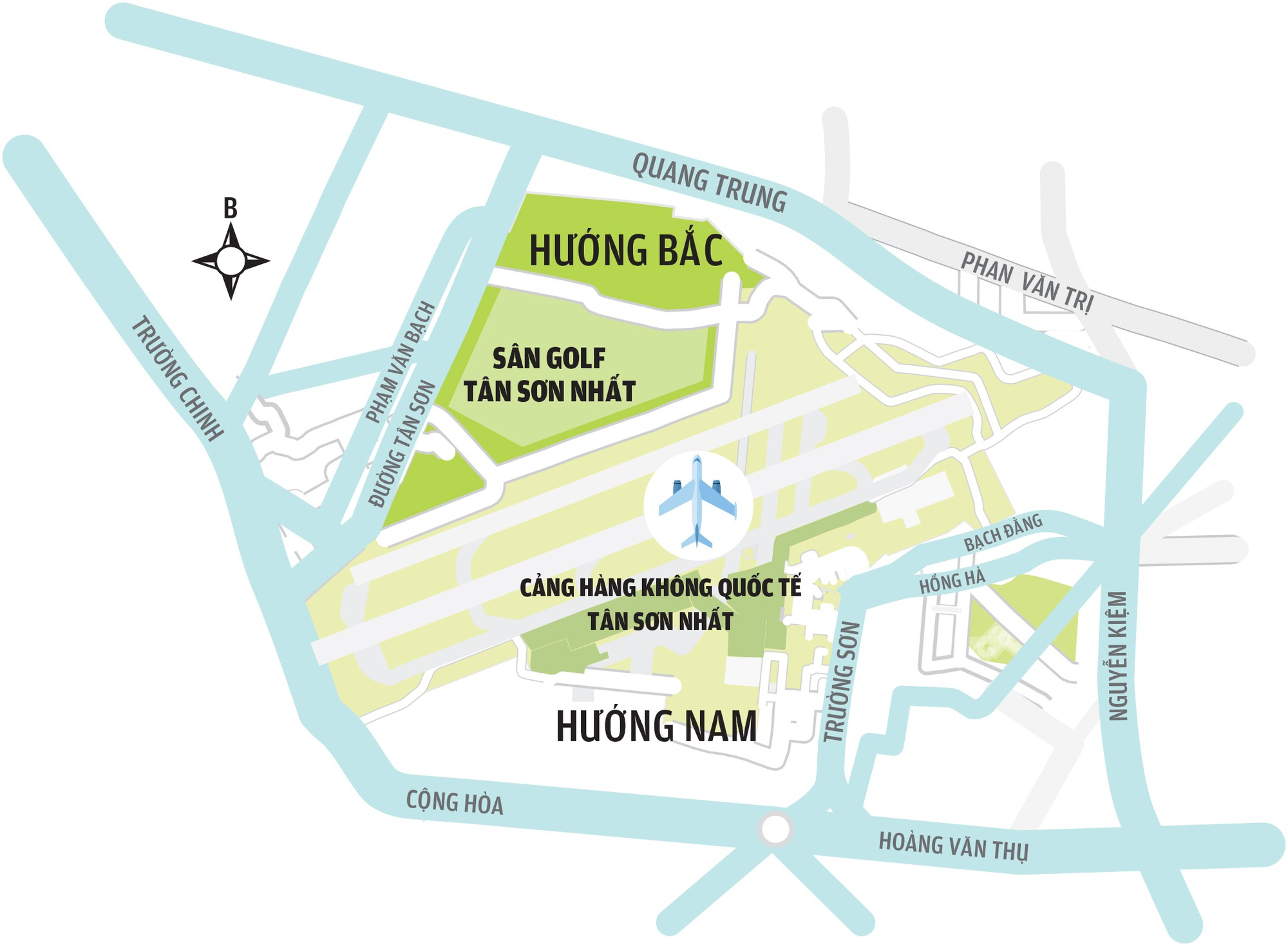 Sân bay Tân Sơn Nhất: Mở rộng về hướng nam hay bắc? - Ảnh 7.