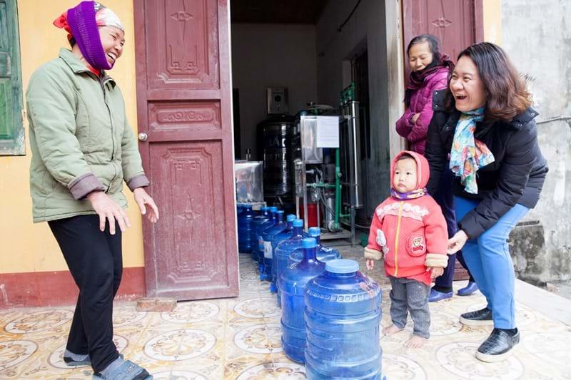 Bà Ngụy Thị Khanh trong một dự án của GreenID. Ảnh: GreenID