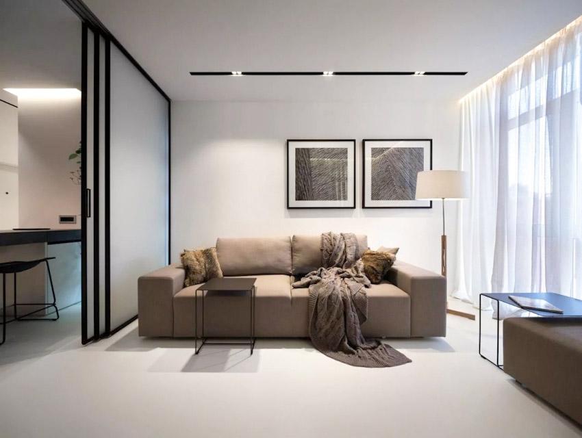 Nội thất căn hộ 44m² đẹp vượt ngưỡng với phong cách tối giản
