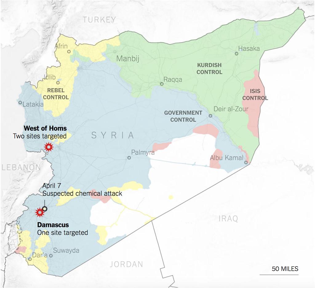 Trump tuyen bo tan cong Syria, Anh - Phap cung tham chien hinh anh 2