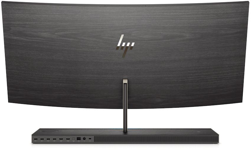 HP Envy 34 All-in-One mới, màn hình cong, Core i7+, GTX 1050, đế có sạc không dây