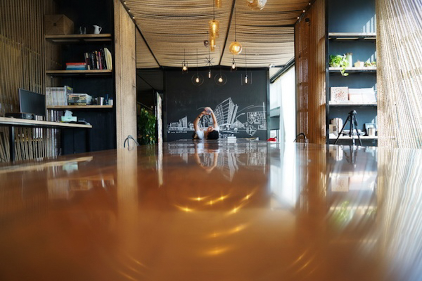 Rope Wave Office - Không gian văn phòng sóng dây hiện đại với vật liệu tự nhiên