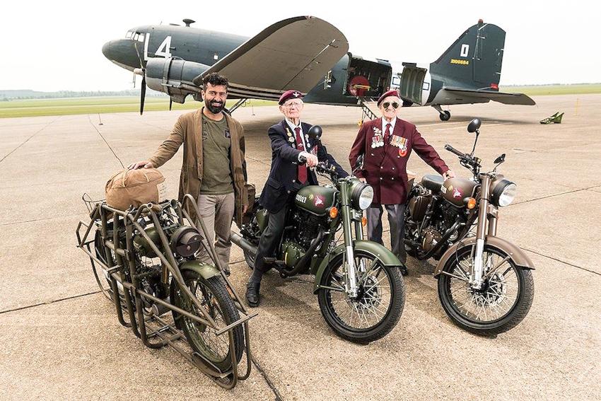 Cận cảnh Royal Enfield Classic 500 Pegasus lính nhảy dù giá 153 triệu