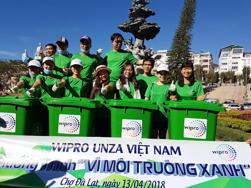 """Wipro Unza thực hiện chương trình """"Vì môi trường xanh"""""""
