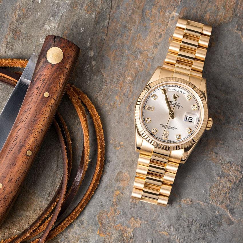 Rolex Day-Date 118238 - mẫu đồng hồ kim cương xứng tầm đẳng cấp quý ông