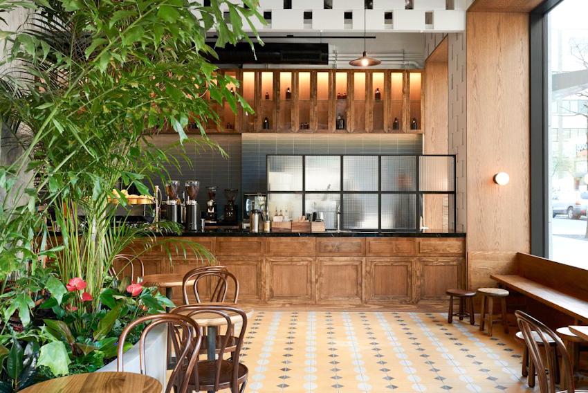 Ẩn náu ngày hè trong khu vườn nhiệt đới xanh ngát tại quán cà phê Devoción - Brooklyn