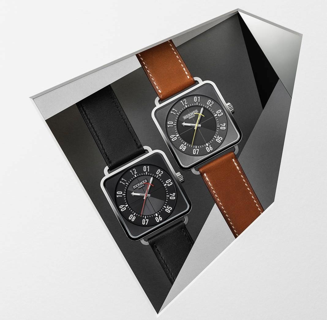 Đồng hồ Carré H đầy mạnh mẽ của Hermès