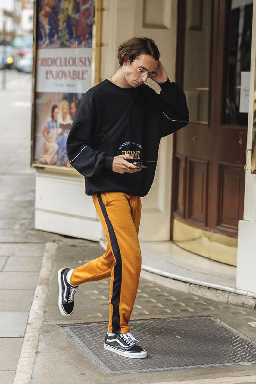 Phong cách thể thao ở trang phục dạo phố