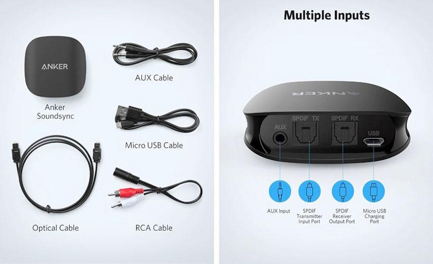 Anker ra mắt bộ thu phát Bluetooth nhỏ gọn Soundsync