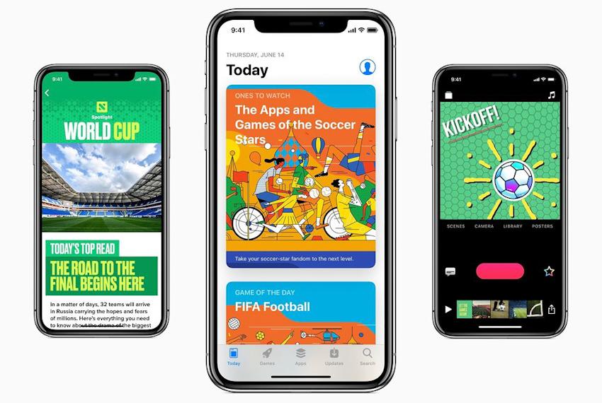 Apple nâng cấp Siri, Music, iBooks, App Store và News phục vụ World Cup 2018