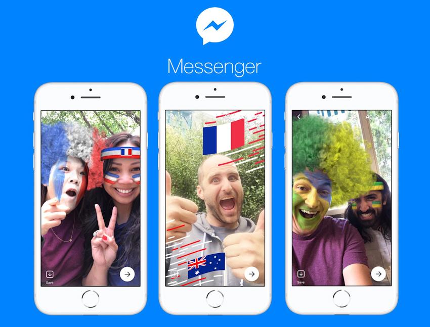 Facebook Messenger bổ sung thêm cờ, khung ảnh cho mùa World Cup 2018
