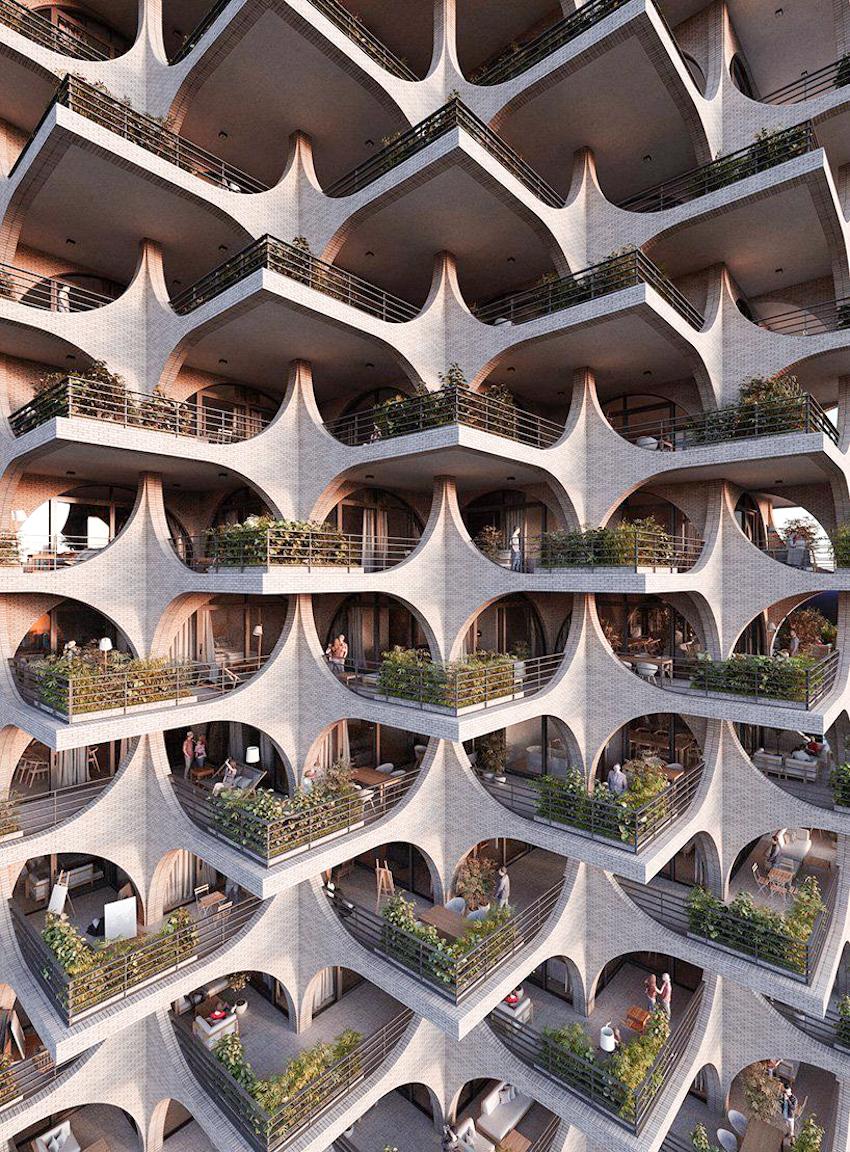 Tòa chung cư Tel Aviv Arcades ấn tượng qua thiết kế của Penda Austria