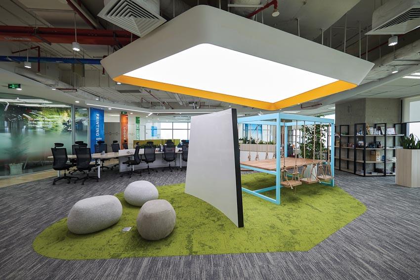 Văn phòng thư giãn và sáng tạo