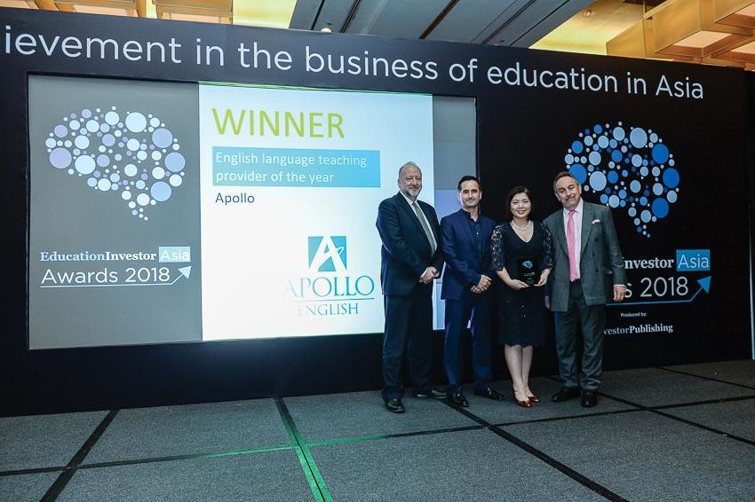 """Bà Lê Thị Kim Chi - Group CEO Apollo English: """"Chúng tôi vô cùng tự hào khi được vinh danh trên đấu trường quốc tế"""""""