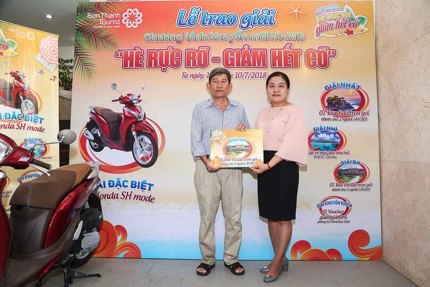 BenThanh Tourist trao thưởng khuyến mại hè 2018