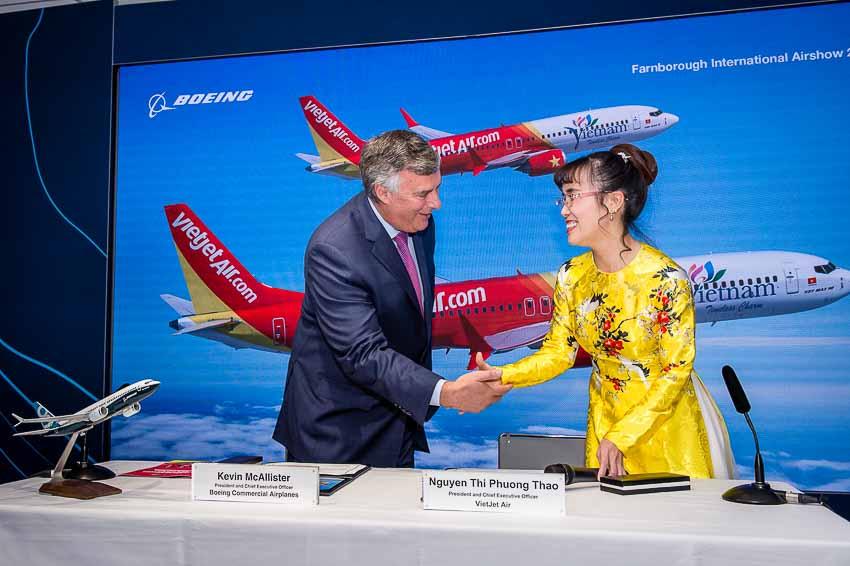 Boeing và Vietjet ký hợp đồng mua bán 100 máy bay