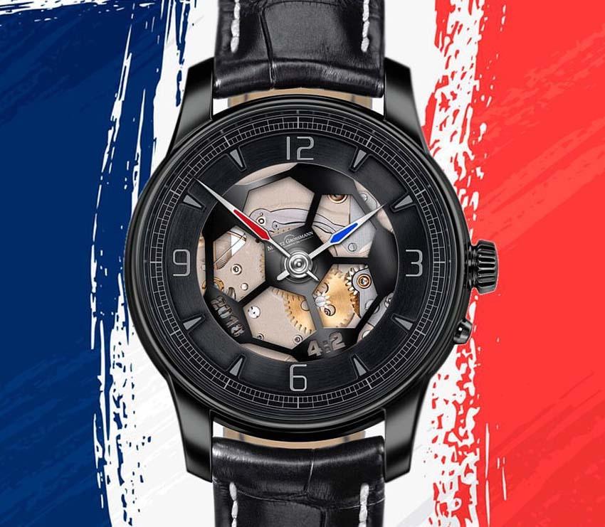 Moritz Grossmann ra mắt mẫu đồng hồ đặc biệt mừng đội tuyển Pháp vô địch World Cup 2018