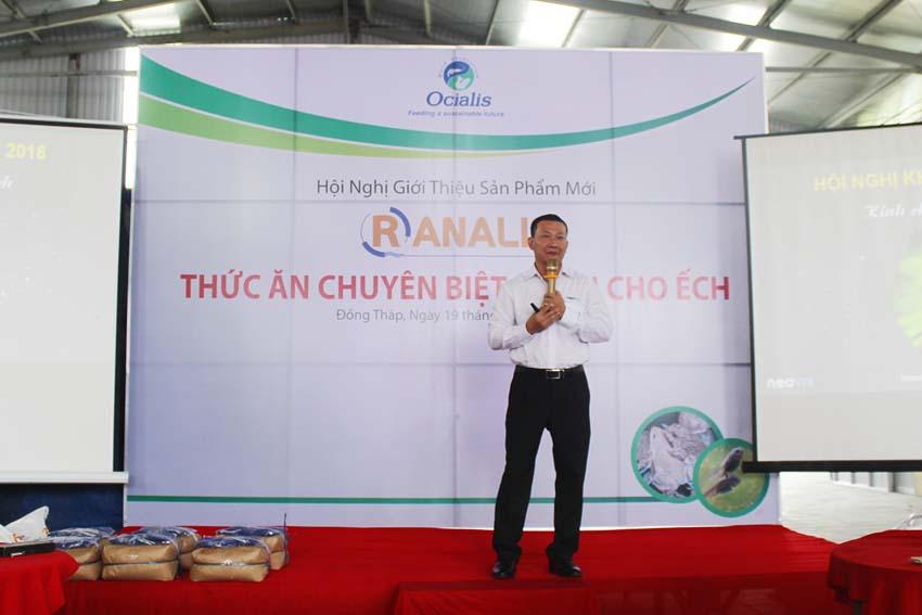Ocialis giới thiệu dòng thức ăn chuyên biệt dành cho ếch
