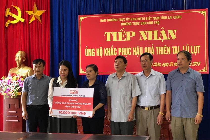 TMV ủng hộ đồng bào hai tỉnh Lai Châu và Hà Giang