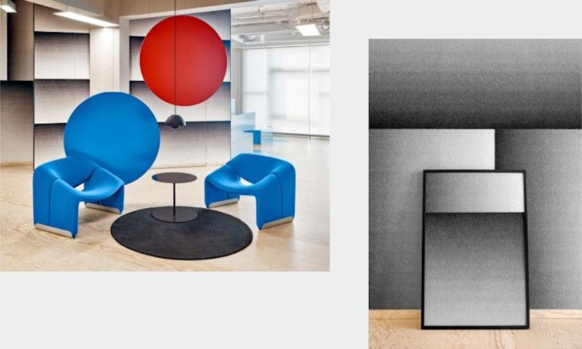 Unusual Volume –Không gian phòng làm việc đầy sắc màu