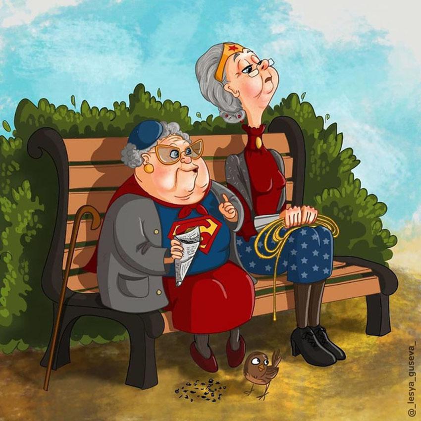 Những siêu anh hùng khi về già trông như thế nào?