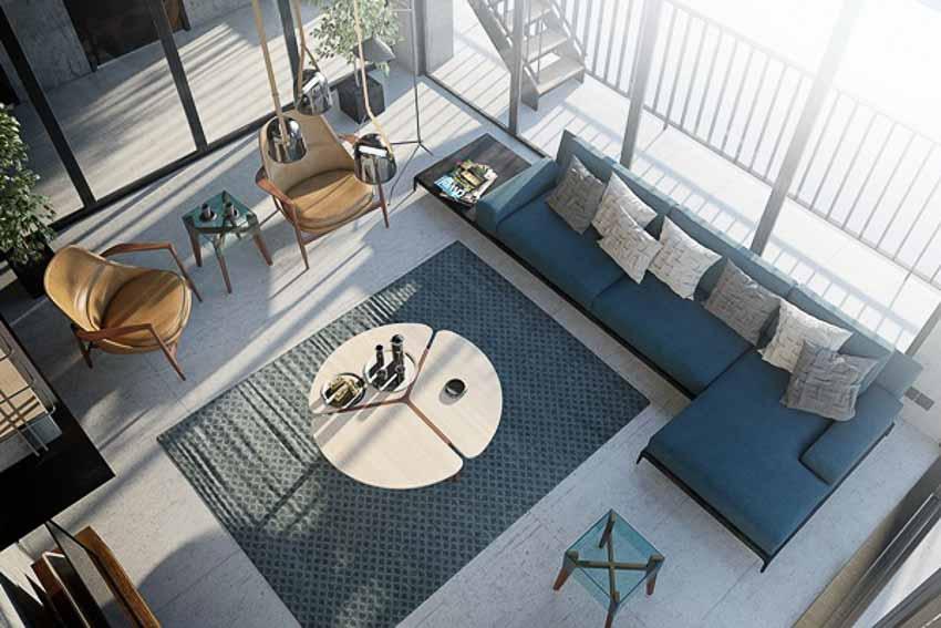 Không gian nội thất hiện đại theo phong cách Loft