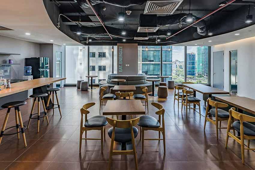 Cấu trúc thiên nhiên ở văn phòng MEDI Group