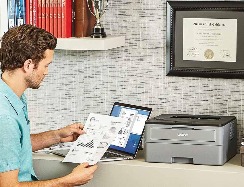 Máy in laser kết nối không dây dành cho văn phòng