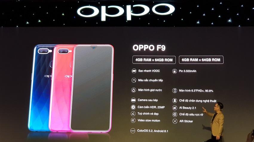 OPPO F9, sạc nhanh VOOC, camera kép, giá 7,69 triệu-14