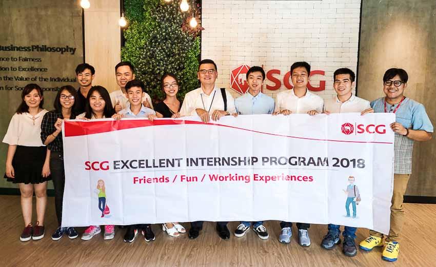 10 sinh viên tham gia chương trình SCG Thực tập sinh tài năng-2