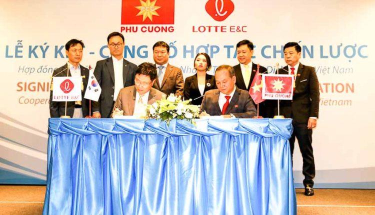 Ký kết Tập toàn Phú Cưởng và Tập đoàn Lotte