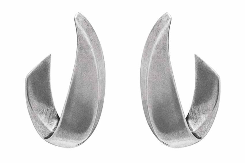 Bộ đôi bông tai và vòng tay Silver-Tone Metal của Saint Laurent