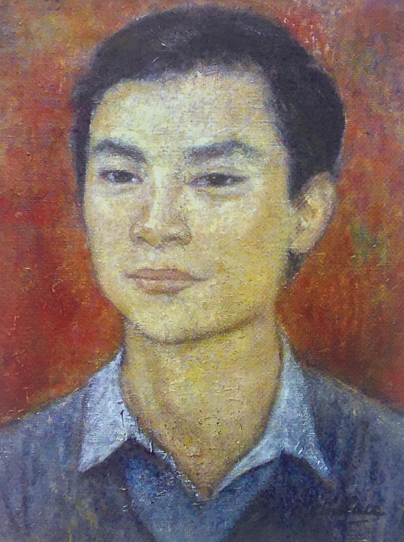 Tác phẩm Chân dung Lê Tất Luyện, sơn dầu, 1978